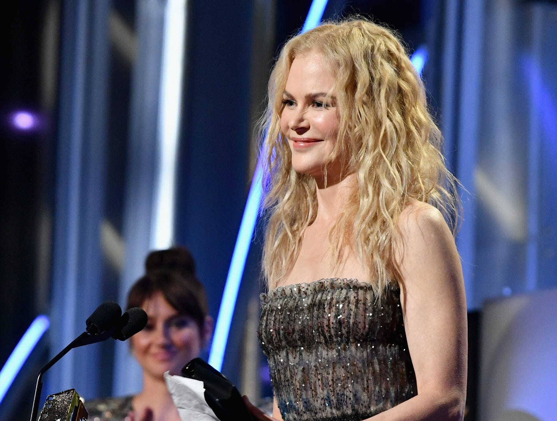 BEVERLY HILLS, CA - NOVEMBER 04:  Nicole Kidman accepts the Hollywood Career Achievement Award onstage during the 22nd Annual Hollywood Film Awards at The Beverly Hilton Hotel on November 4, 2018 in Beverly Hills, California.  (Photo by Emma McIntyre/Getty Images for HFA) ORG XMIT: 775237954 ORIG FILE ID: 1057495640