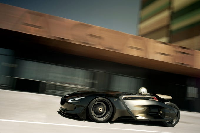 The Peugeot EX1 concept car.