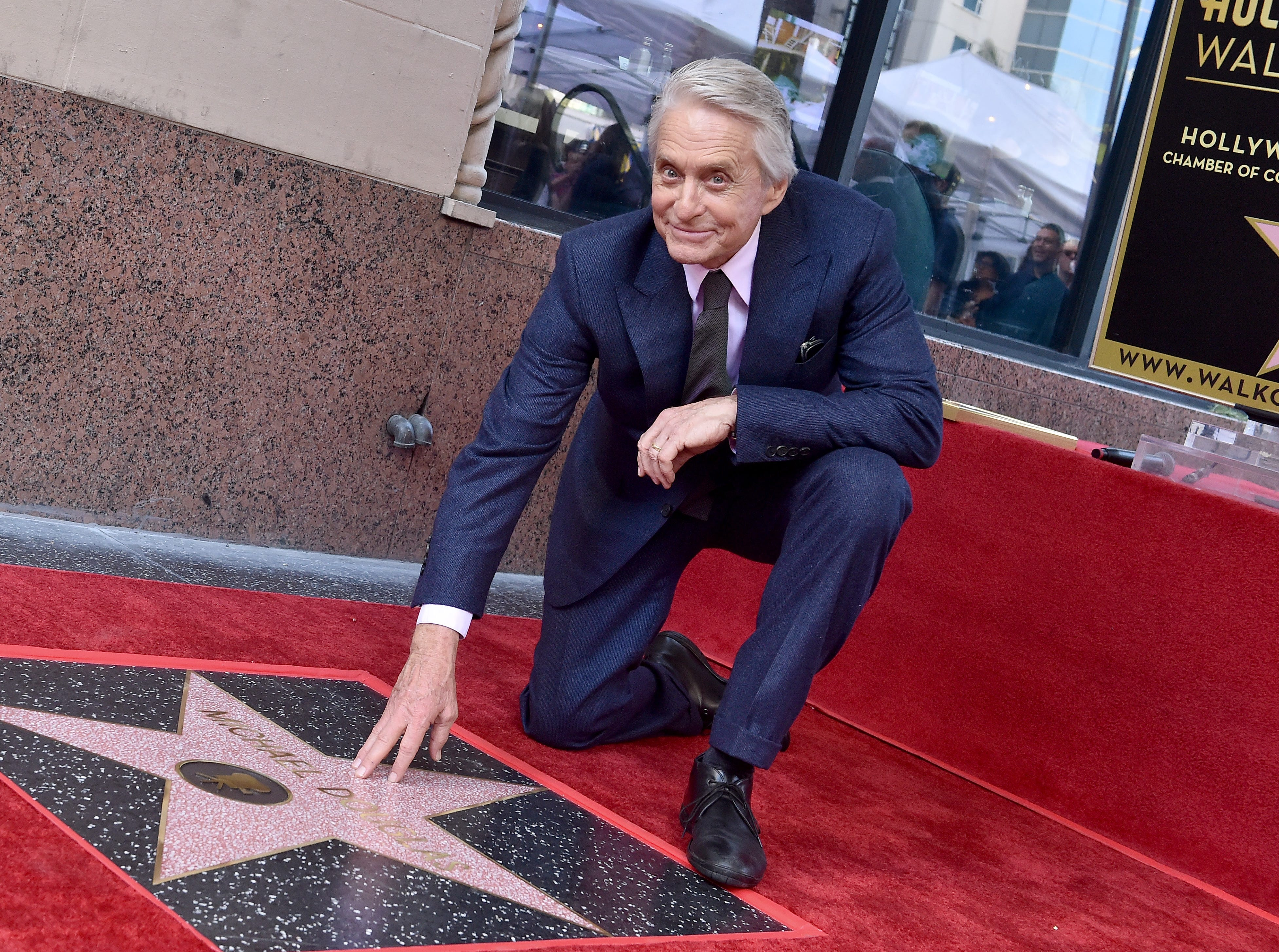 HOLLYWOOD, CA - NOVEMBER 06:  Michael Douglas is honored with star on the Hollywood Walk of Fame on November 06, 2018 in Hollywood, California.  (Photo by Axelle/Bauer-Griffin/FilmMagic) ORG XMIT: 775248764 ORIG FILE ID: 1058405090