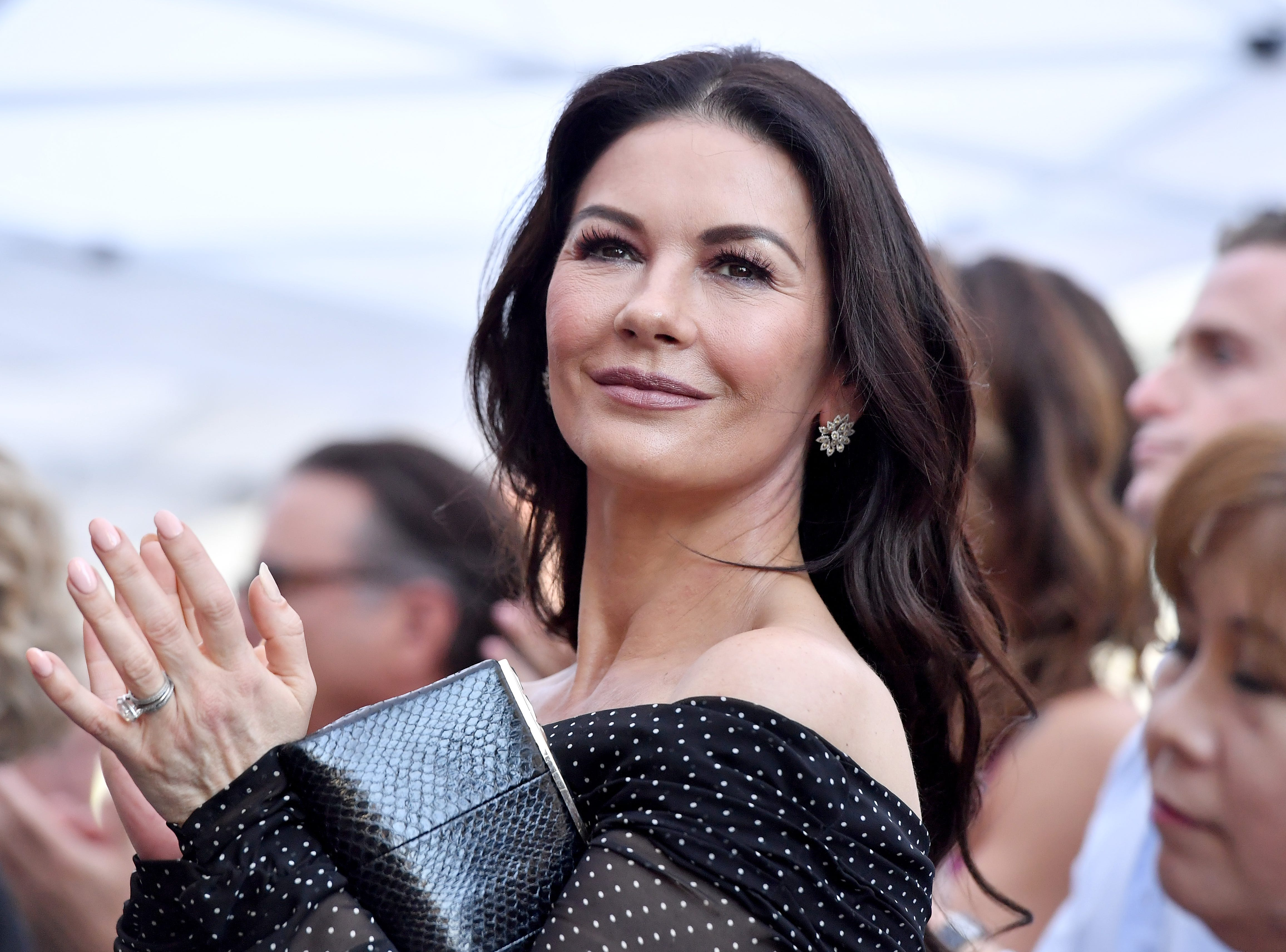 HOLLYWOOD, CA - NOVEMBER 06:  Catherine Zeta-Jones attends the ceremony honoring Michael Douglas with star on the Hollywood Walk of Fame on November 06, 2018 in Hollywood, California.  (Photo by Axelle/Bauer-Griffin/FilmMagic) ORG XMIT: 775248764 ORIG FILE ID: 1058405004