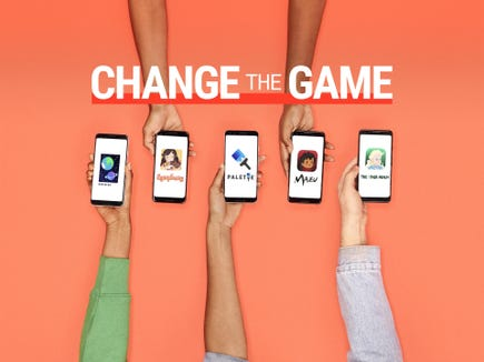 "All five of these apps were designed by the teen winners of the ""Change The Game Design Challenge"" by Google."