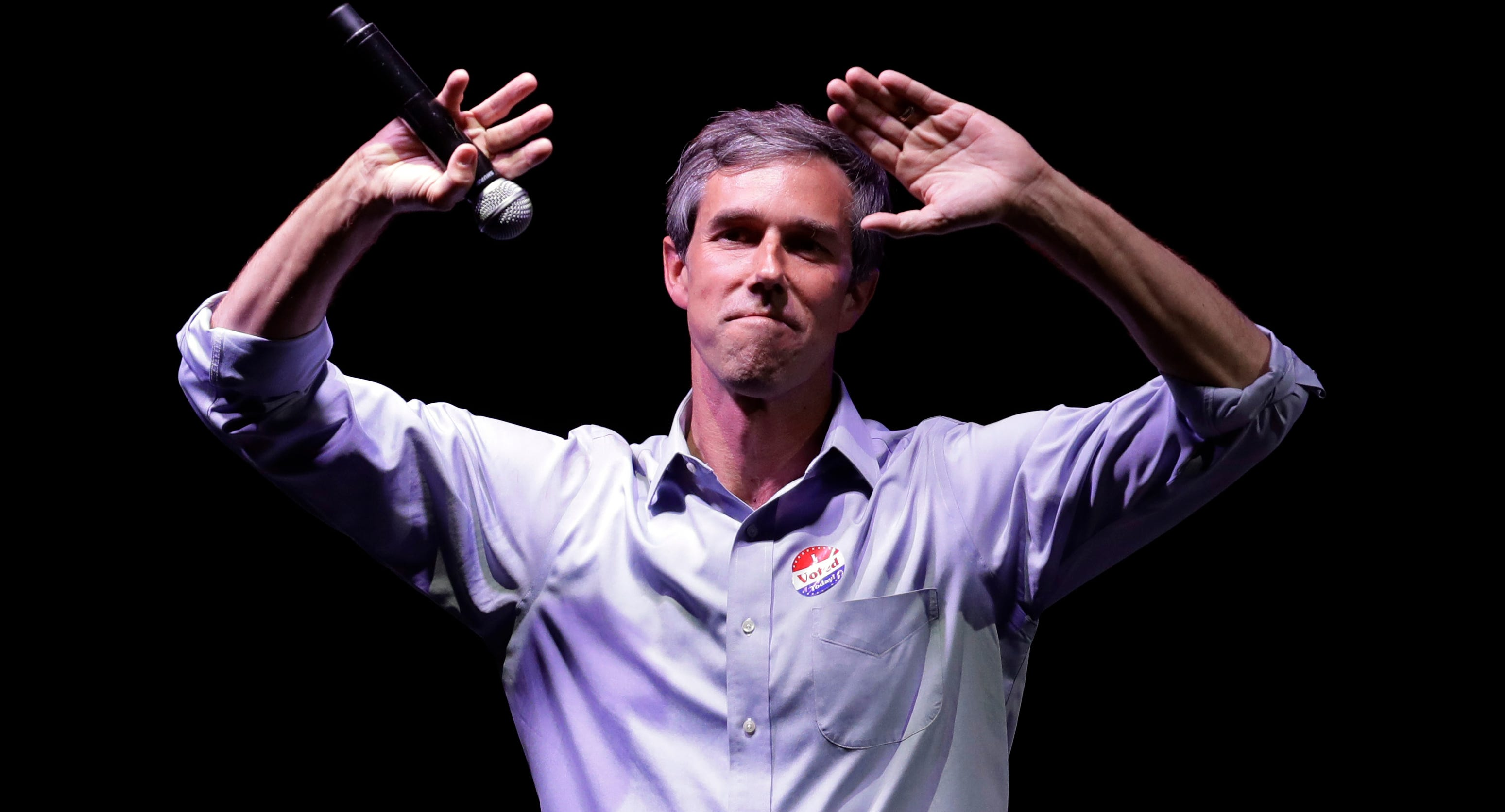 Rep. Beto O'Rourke makes his concession speech at his election night party Tuesday in El Paso.