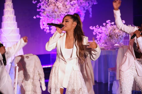 Ariana Grande presents debut presentation.