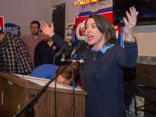 Democrat Angie Craig declares victory Tuesday, Nov. 6, over Republican Jason Lewis for U.S. House District 2 in Eagan.