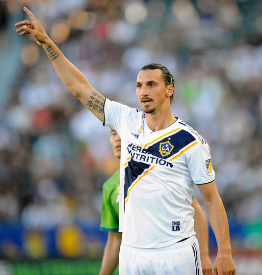 3d13bf9a576 Mls Seattle Sounders At Los Angeles Galaxy. Zlatan Ibrahimovic scored 22  goals ...