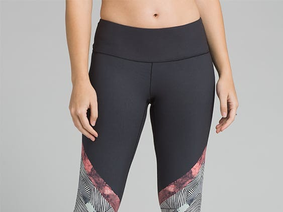 Clothing company prAna roots are in yoga and climbing clothes made in a sustainable way. Its Pillar Printed Legging design is made of recycled polyester. Price: $79.