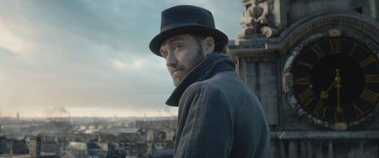 "Albus Dumbledore (Jude Law) keeps himself at arm's length from dangerous goings-on in the ""Fantastic Beasts"" sequel."