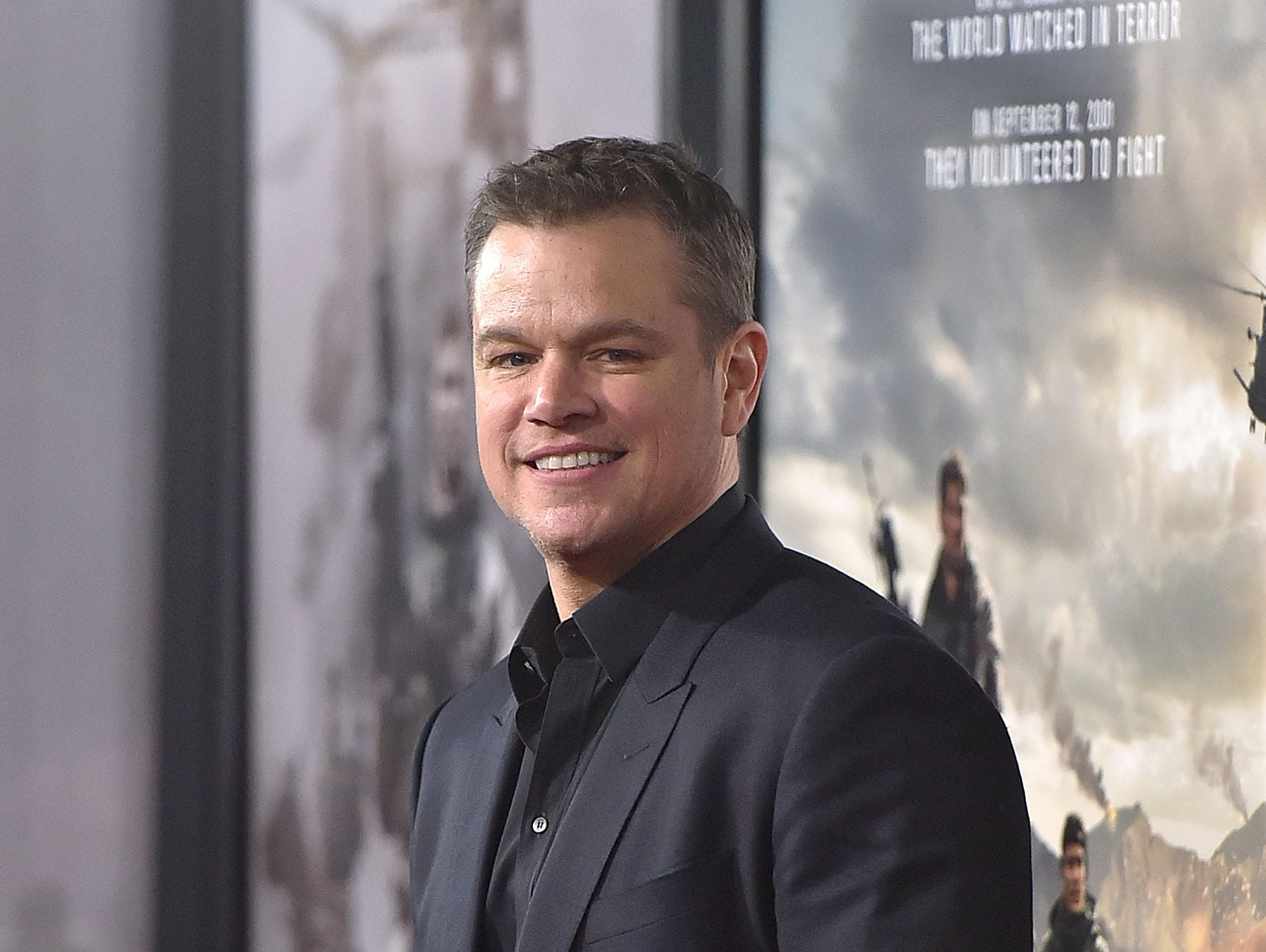 "NEW YORK, NY - JANUARY 16:  Actor Matt Damon attends the ""12 Strong"" World Premiere at Jazz at Lincoln Center on January 16, 2018 in New York City.  (Photo by Mike Coppola/WireImage) ORG XMIT: 775100444 ORIG FILE ID: 905801808"