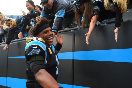 Panthers quarterback Cam Newton.