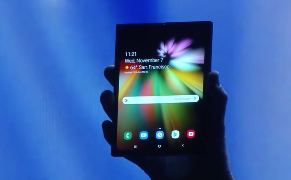 Samsung's foldable display, unfolded.