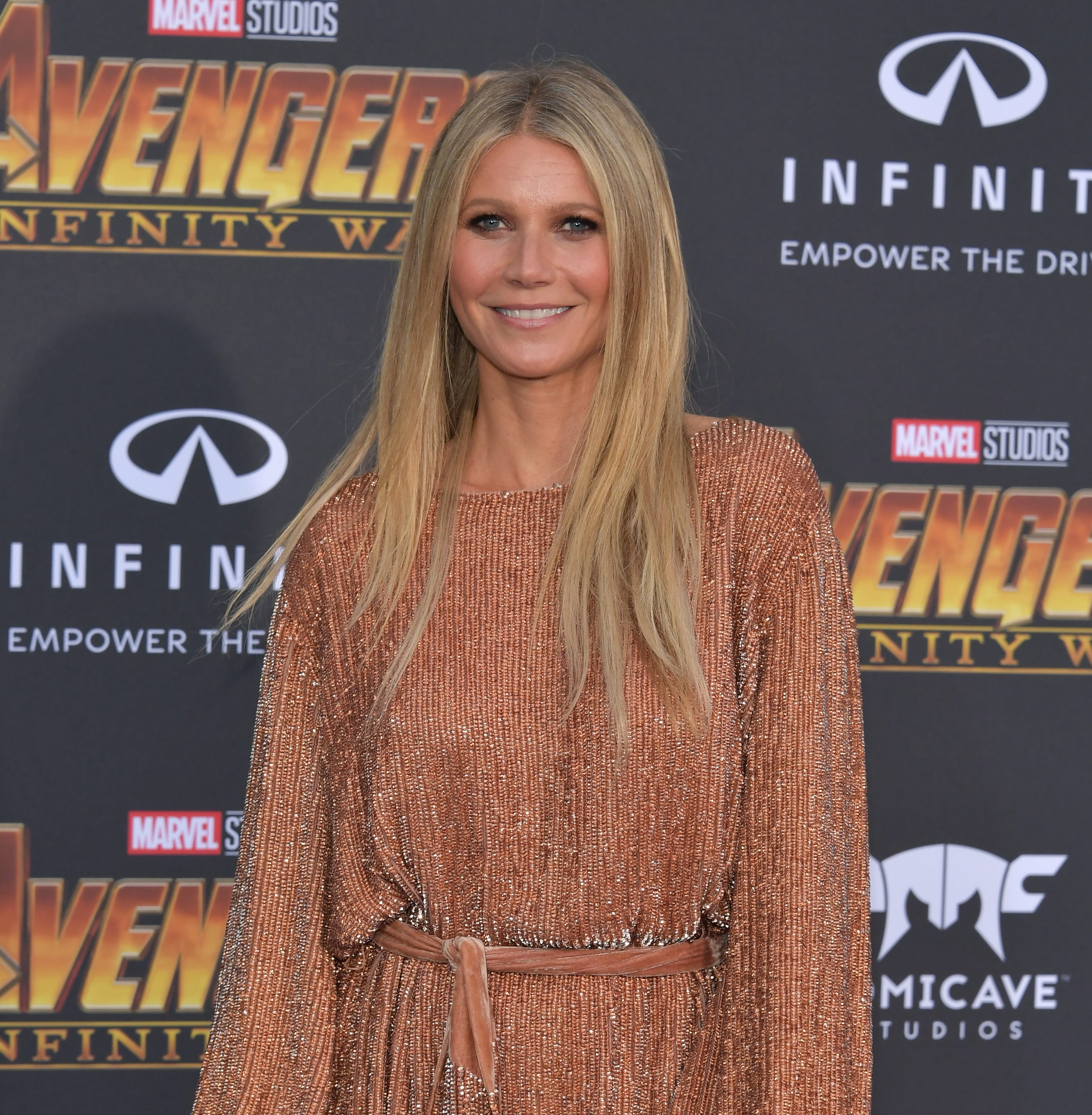 FILE - SEPTEMBER 29: Actor/businesswoman Gwyneth Paltrow is marrying Brad Falchuk today at a private ceremony in the Hamptons. LOS ANGELES, CA - APRIL 23:  PGwyneth Paltrow arrives at the Premiere Of Disney And Marvel's 'Avengers: Infinity War' on April 23, 2018 in Los Angeles, California.  (Photo by Neilson Barnard/Getty Images) ORG XMIT: 775096272 ORIG FILE ID: 950513708