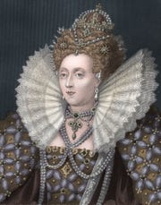 Elizabeth I, the virgin Queen of England from 1558 until her death in 1603.