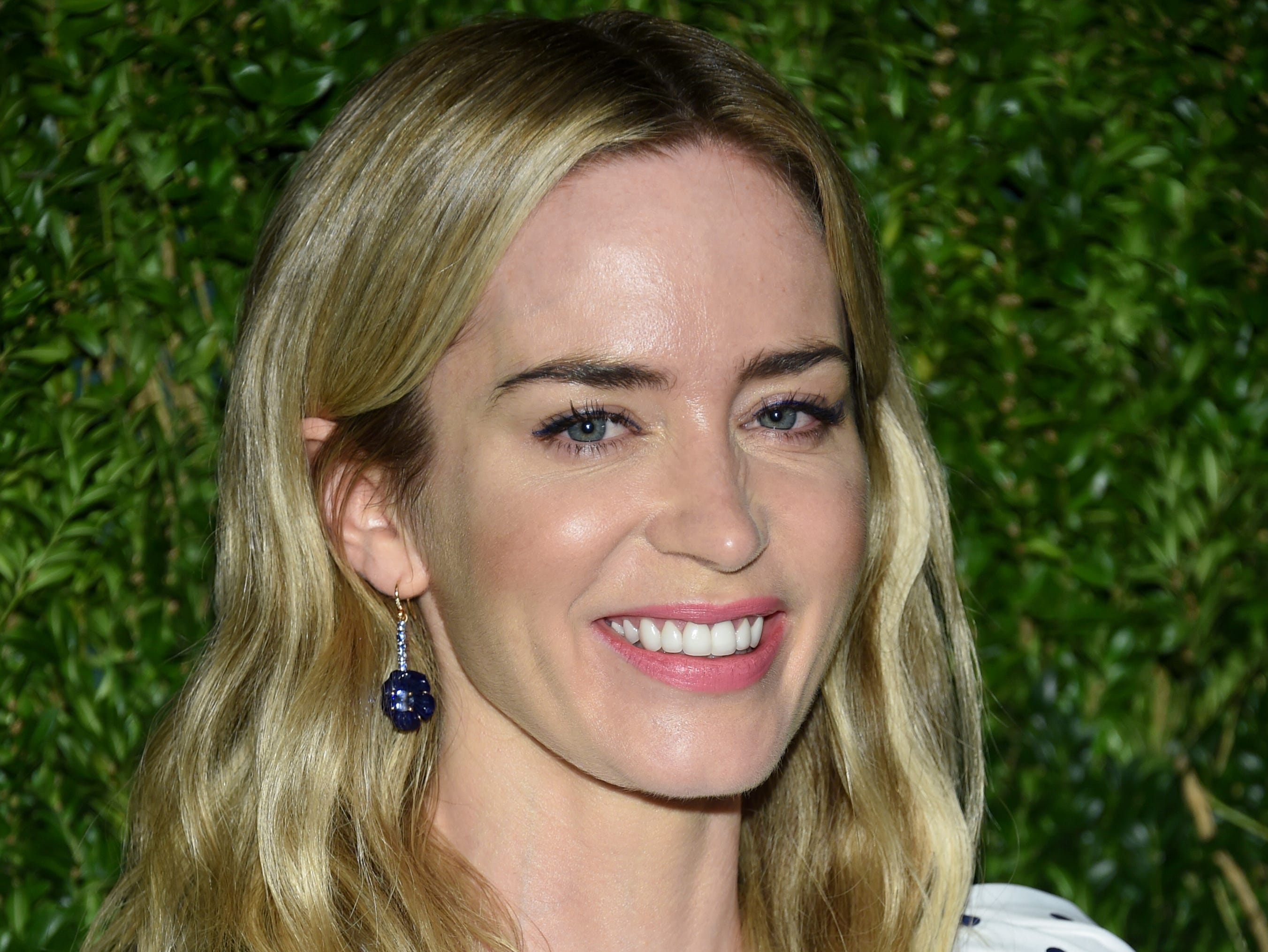 Actress Emily Blunt attends the 15th annual CFDA / Vogue Fashion Fund event at the Brooklyn Navy Yard on Monday, Nov. 5, 2018, in New York. (Photo by Evan Agostini/Invision/AP) ORG XMIT: NYEA126