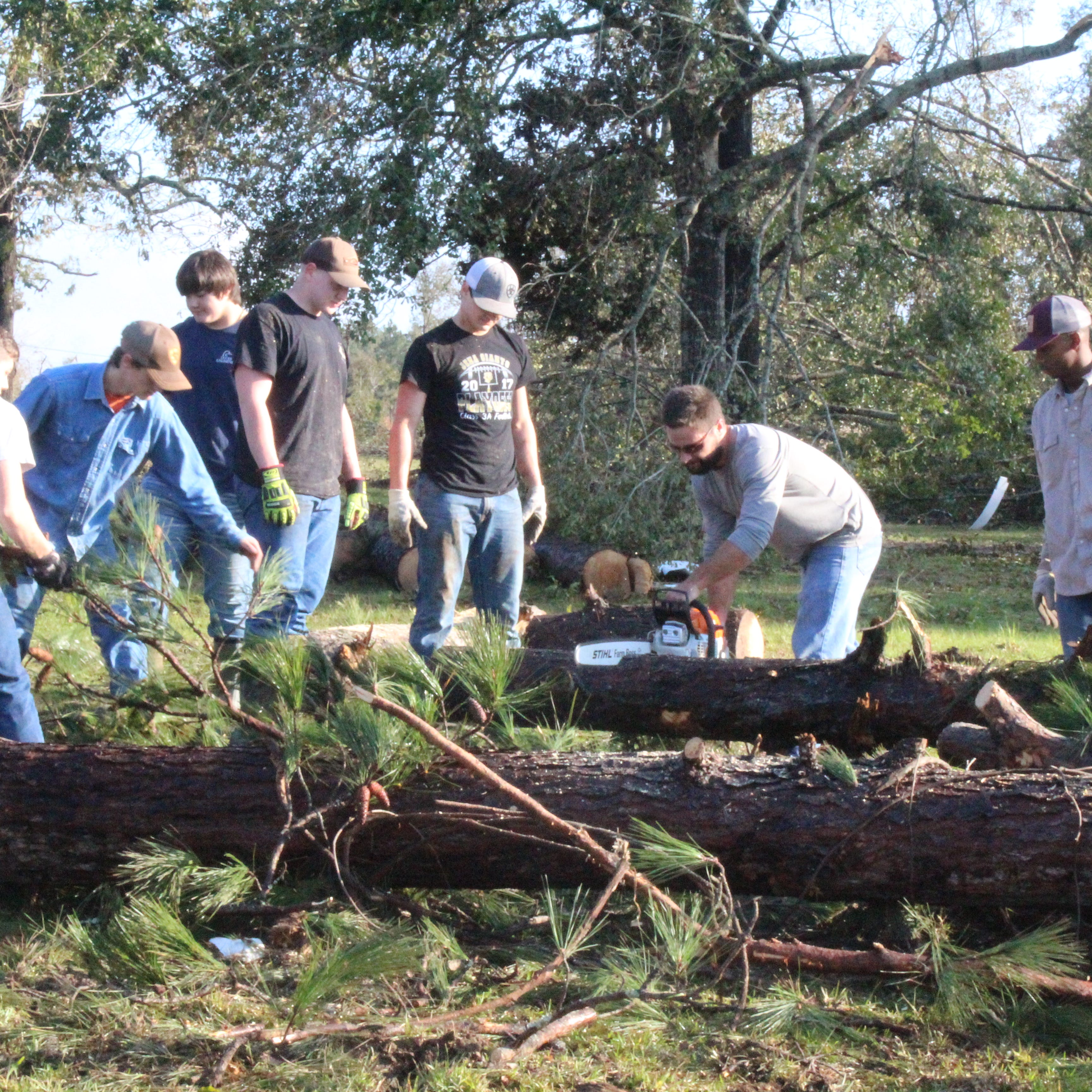 Jena football prepping for playoffs while lending a hand to storm victims