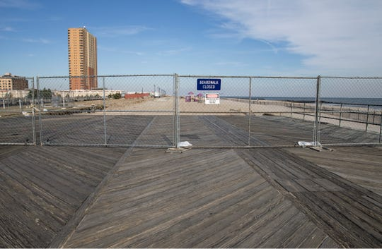 Construction of the waterfront by iStar has begun in the area of 6th Avenue north to Fisherman's Lot. Fencing surrounds the area which is now closed to the public. View of the construction area at 6th Avenue.