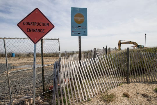 Construction of the waterfront by iStar has begun in the area of 6th Avenue north to Fisherman's Lot. Fencing surrounds the area which is now closed to the public. View of the construction area at Fisherman's Lot.