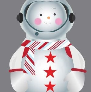 Sunny the Snowpal is the protagonist of the 2018 holiday windows at Macy's Herald Square in New York.