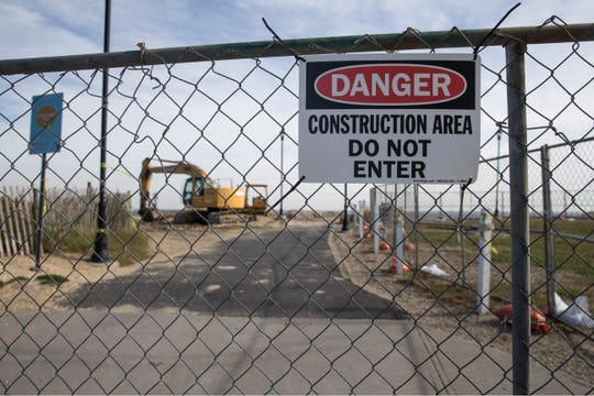 Construction of the waterfront by iStar has begun in the area of 6th Avenue north to Fisherman's Lot. Fencing surrounds the area which is now closed to the public. View of the construction area at Fisherman's Lot.Asbury Park, NJThursday , November, 08, 2018