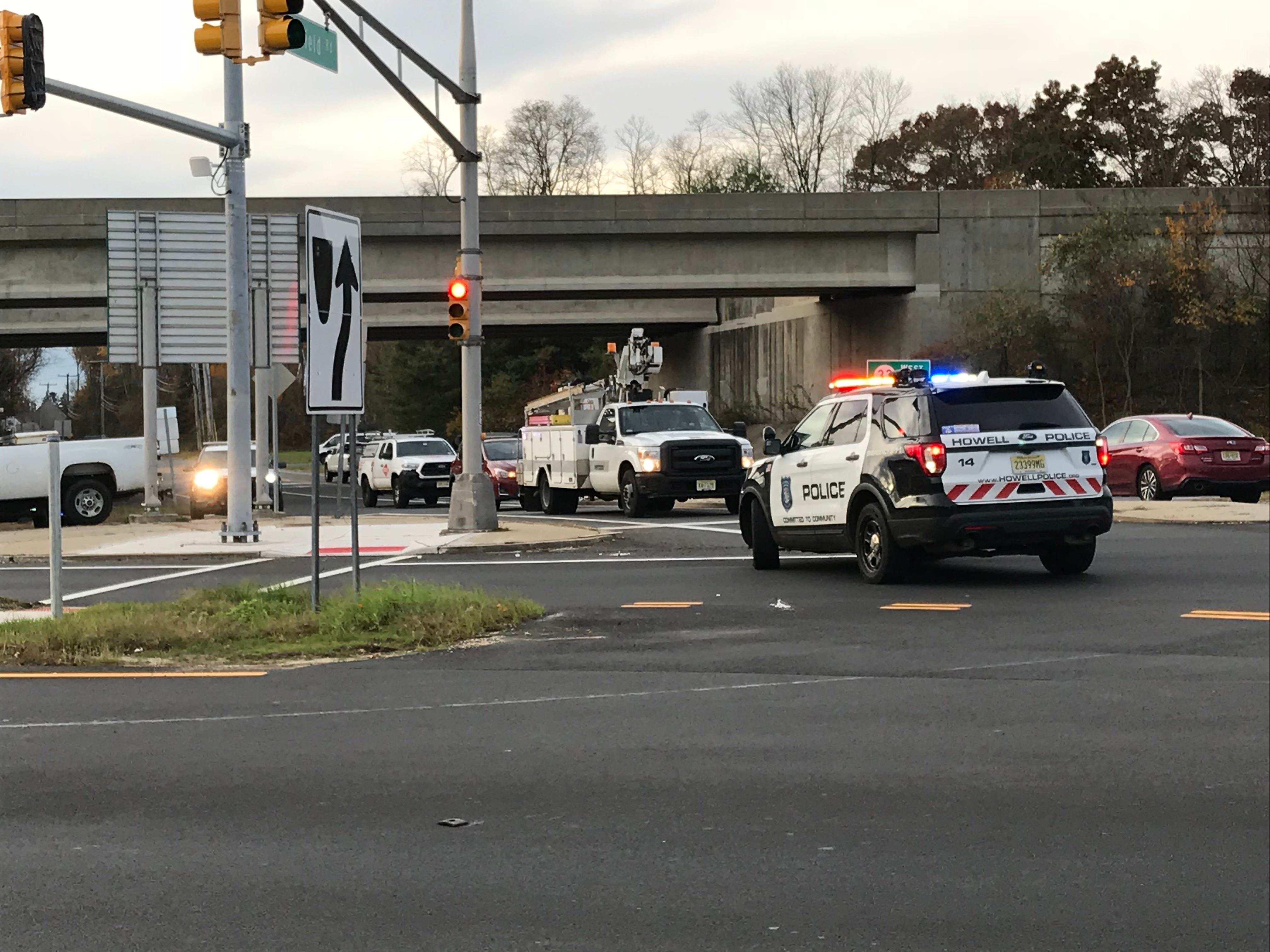 Police investigated a motorcycle crash on Route 33 on Nov. 8, 2018.
