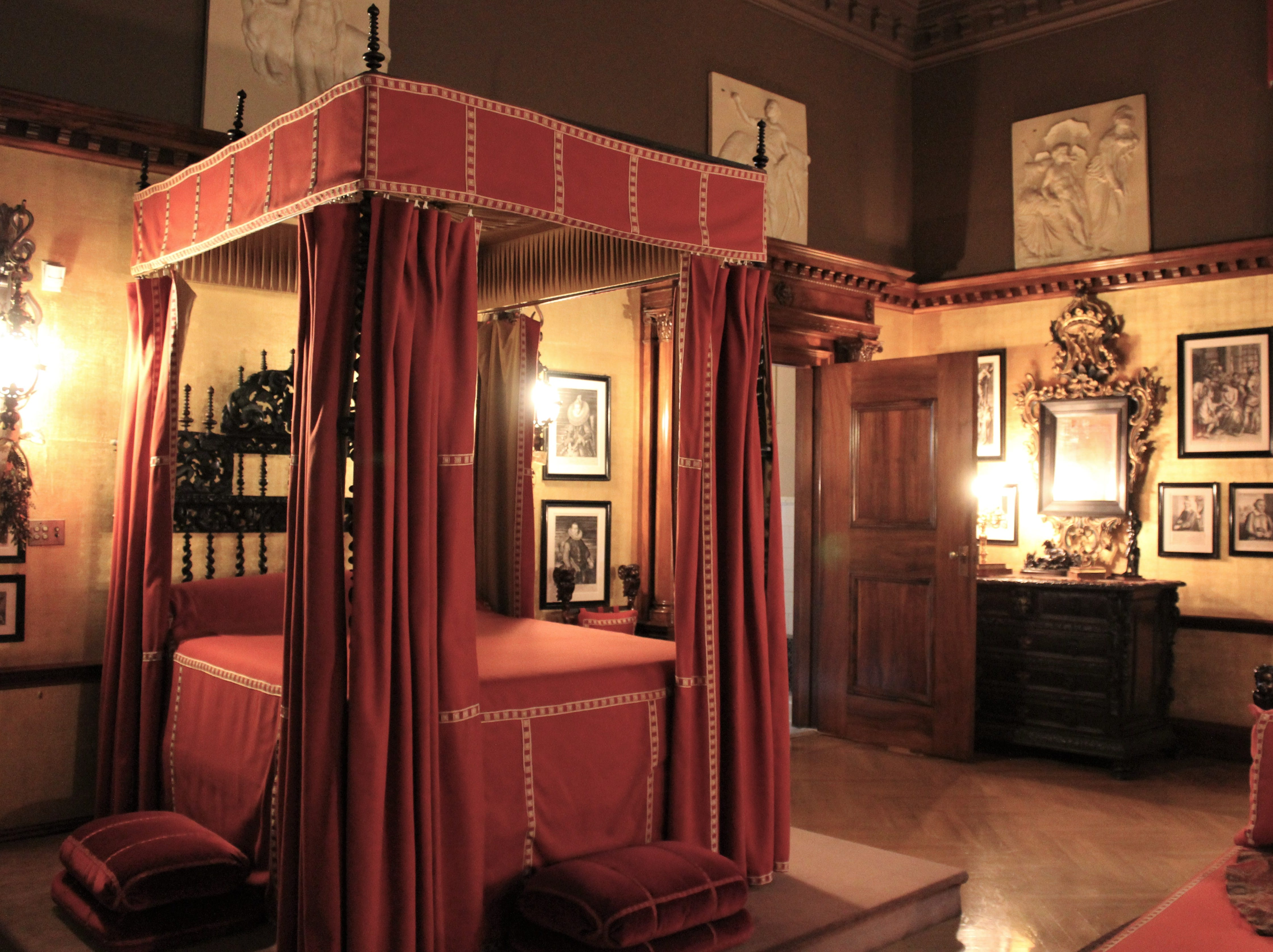 One of many elegant bedrooms at Biltmore House, near Asheville, N.C. You can look but don't think about taking a nap.