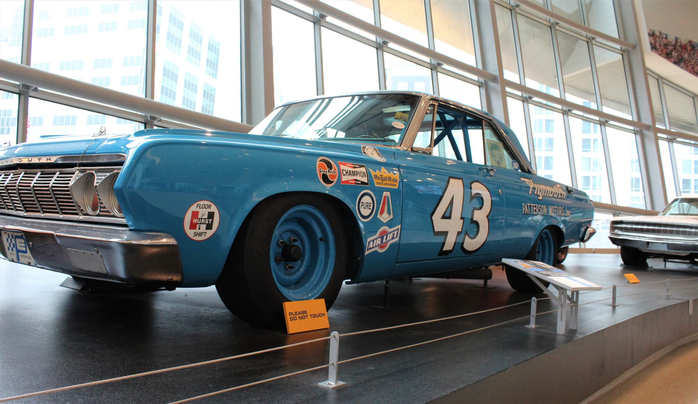 In 1967, Richard Petty won 27 of 48 NASCAR races, including a record 10 straight. His Plymouth Belvedere is displayed at the NASCAR Hall of Fame in Charlotte, N.C.