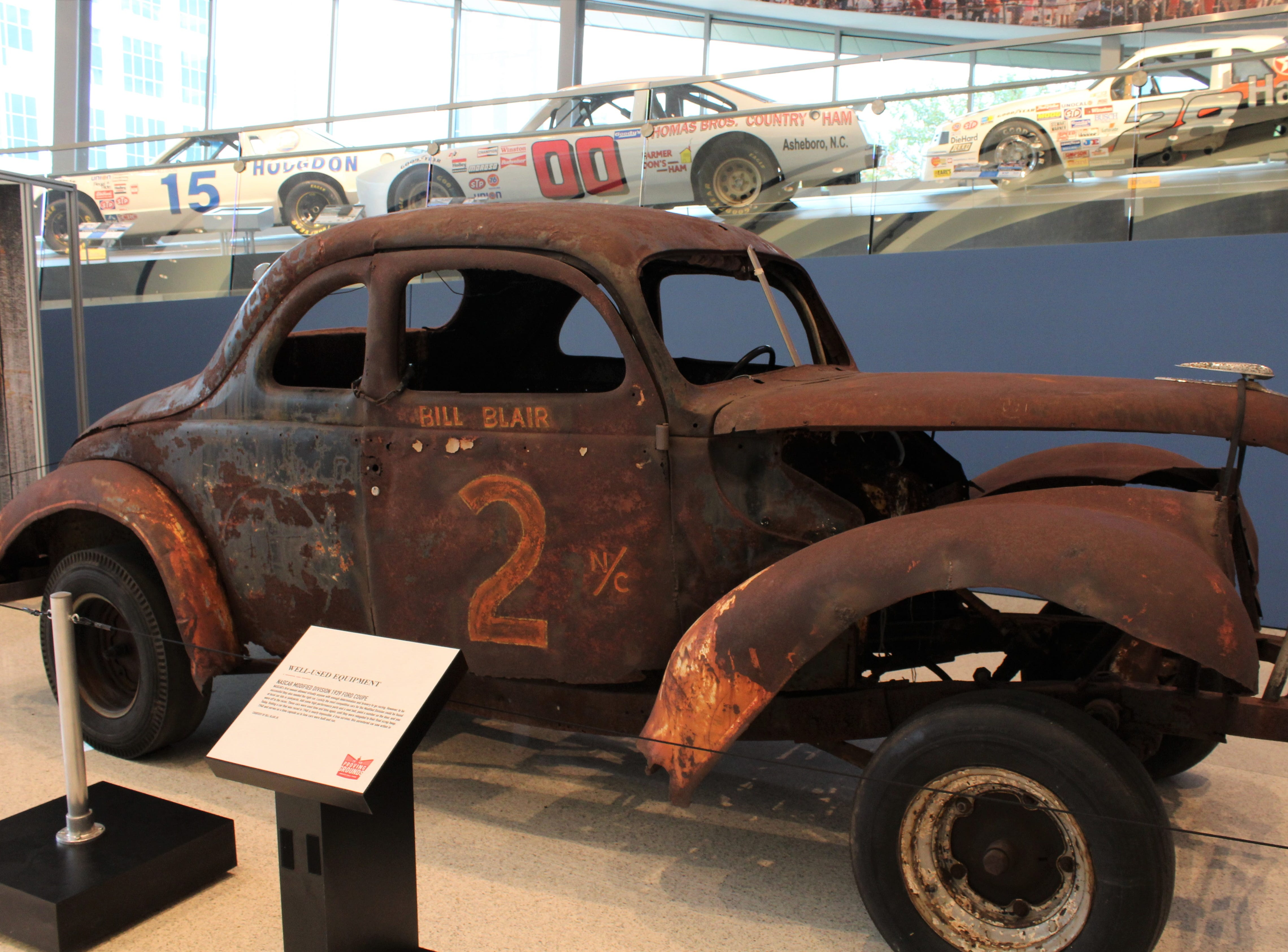 Imagine taking this car onto the Daytona track ... visitors to the NASCAR Hall of Fame will see how dramatically racing has changed since the sport's moonshine days.