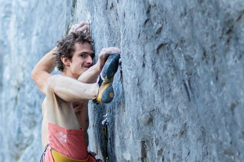 Adam Ondra works a new 5.15b at Acephale in Canmore, Alberta.