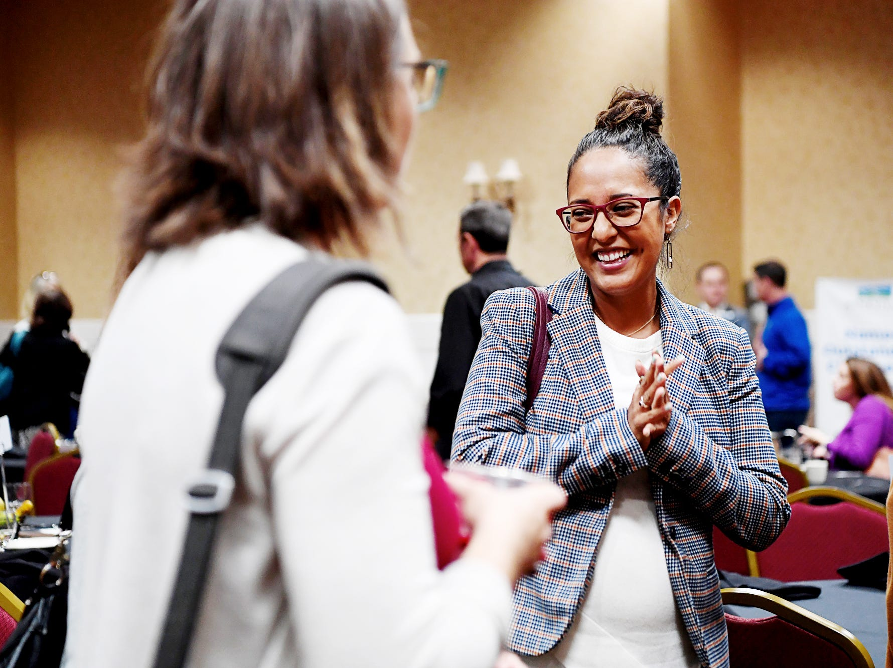 The Asheville Area Chamber of Commerce hosted their annual WomanUp gathering to celebrate women in business with keynote speaker Rebecca Ryan at the Crowne Plaza Nov. 8, 2018.