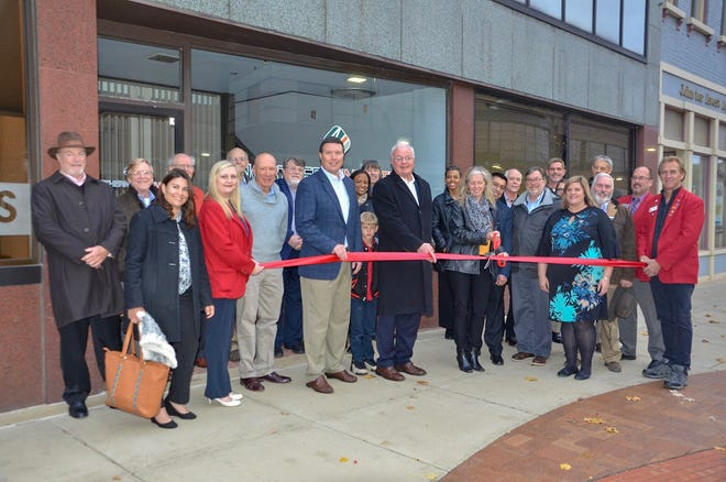 Many prominent community members, including Mayor Mark Behnke, were present at the ribbon-cutting for the new downtown Battle Creek offices of Northern Initiatives on Wednesday, Nov. 7, 2018.