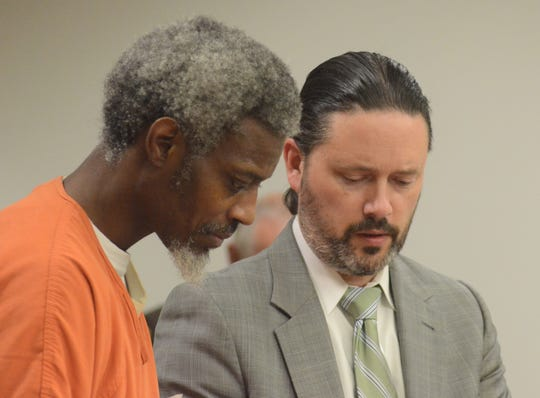 Armand Hudson and his attorney, Justin McCarthy.