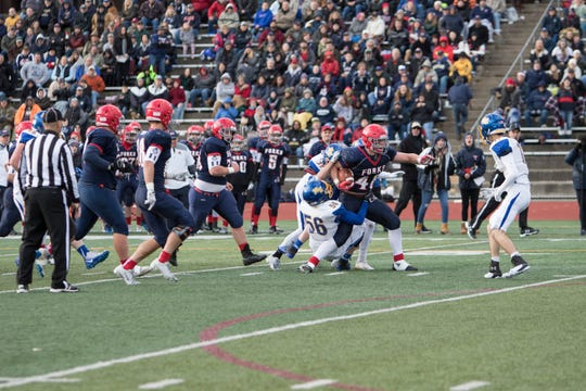 Chenango Forks fullback Lucas Scott does his thing in Saturday's Section 4 Class B final against Maine-Endwell.