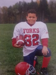 Isaiah Zimmer as a youth football player.