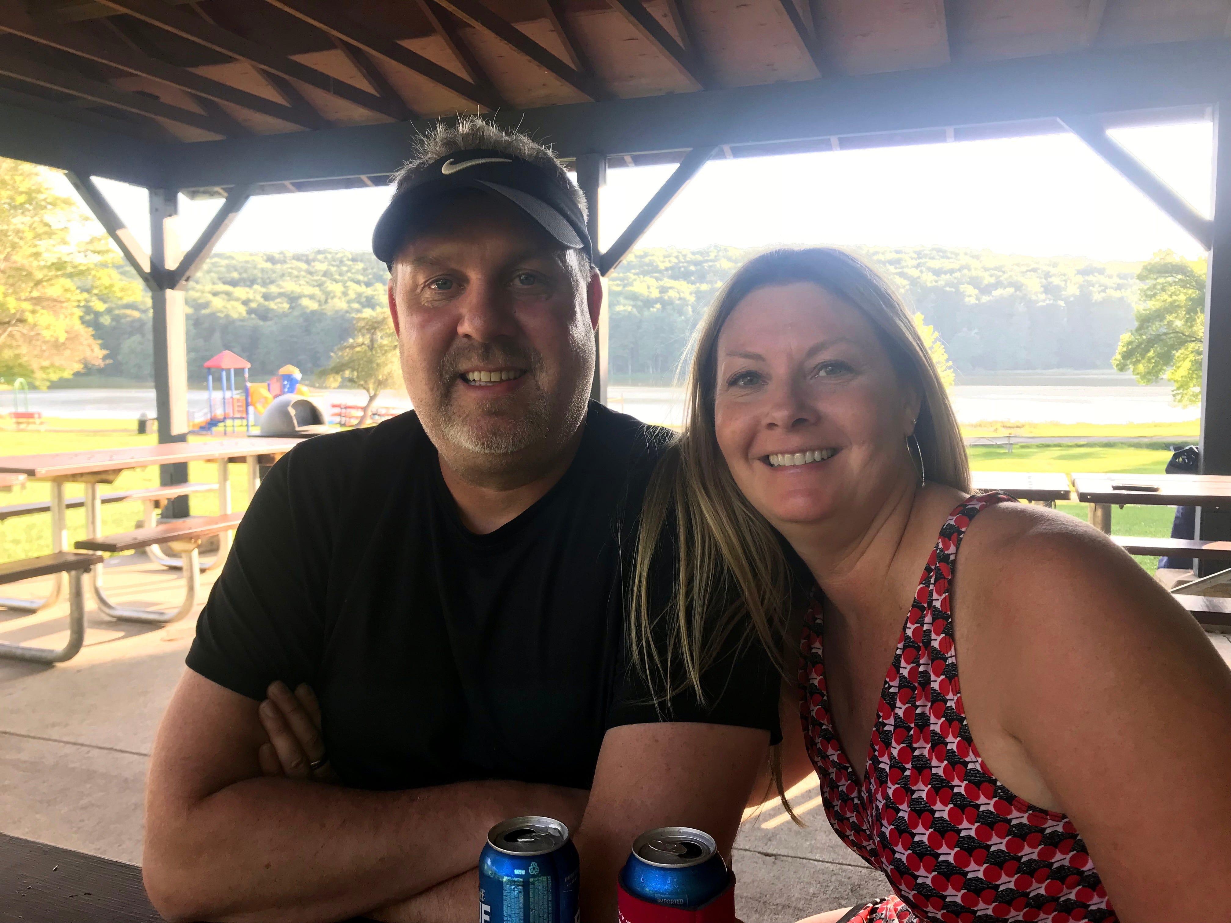 Scott Jackowski and his sister, Lori Hoban.