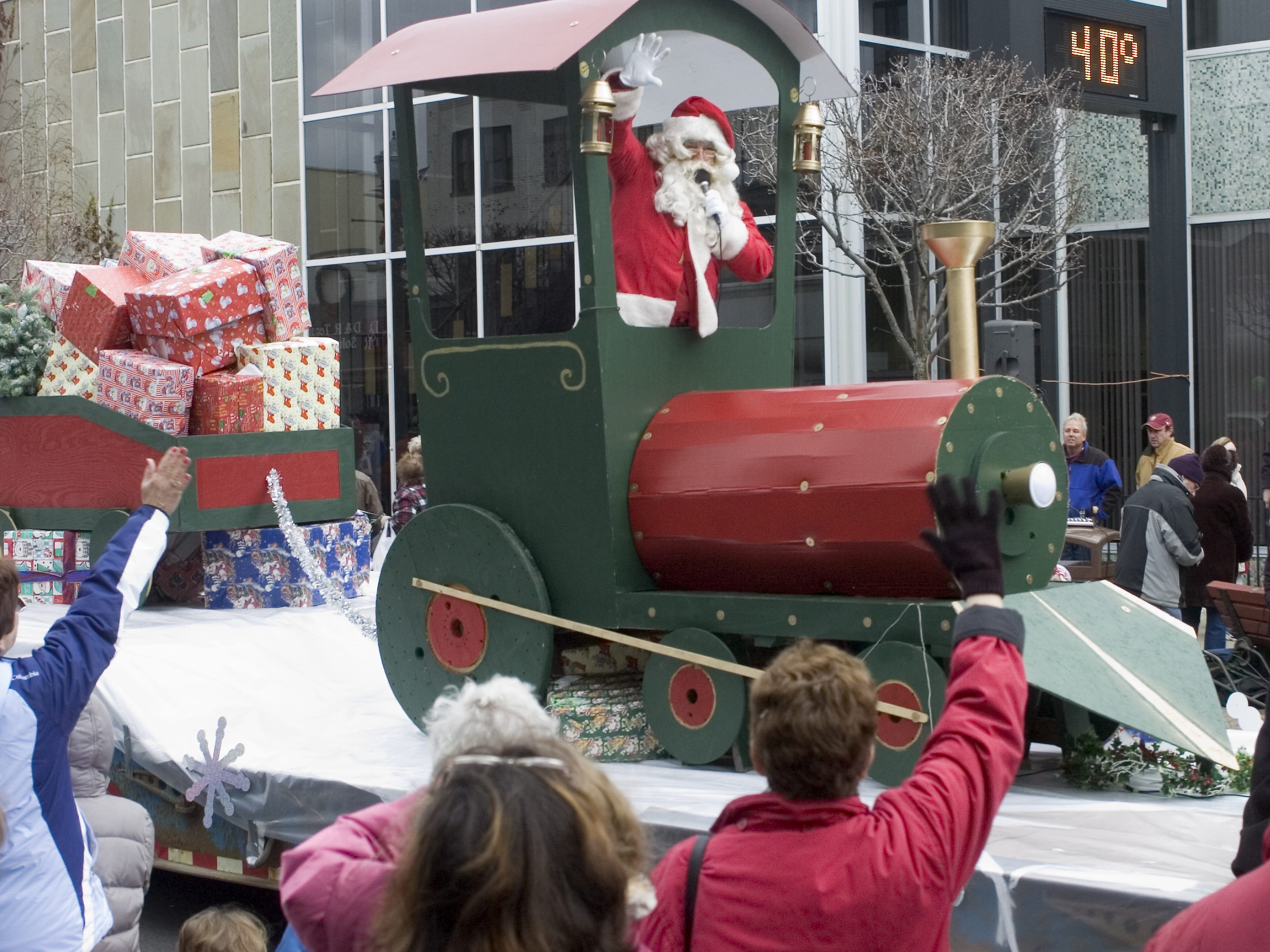 FILE Santa Claus waves from a train in the 2006 Endicott Holiday Parade.