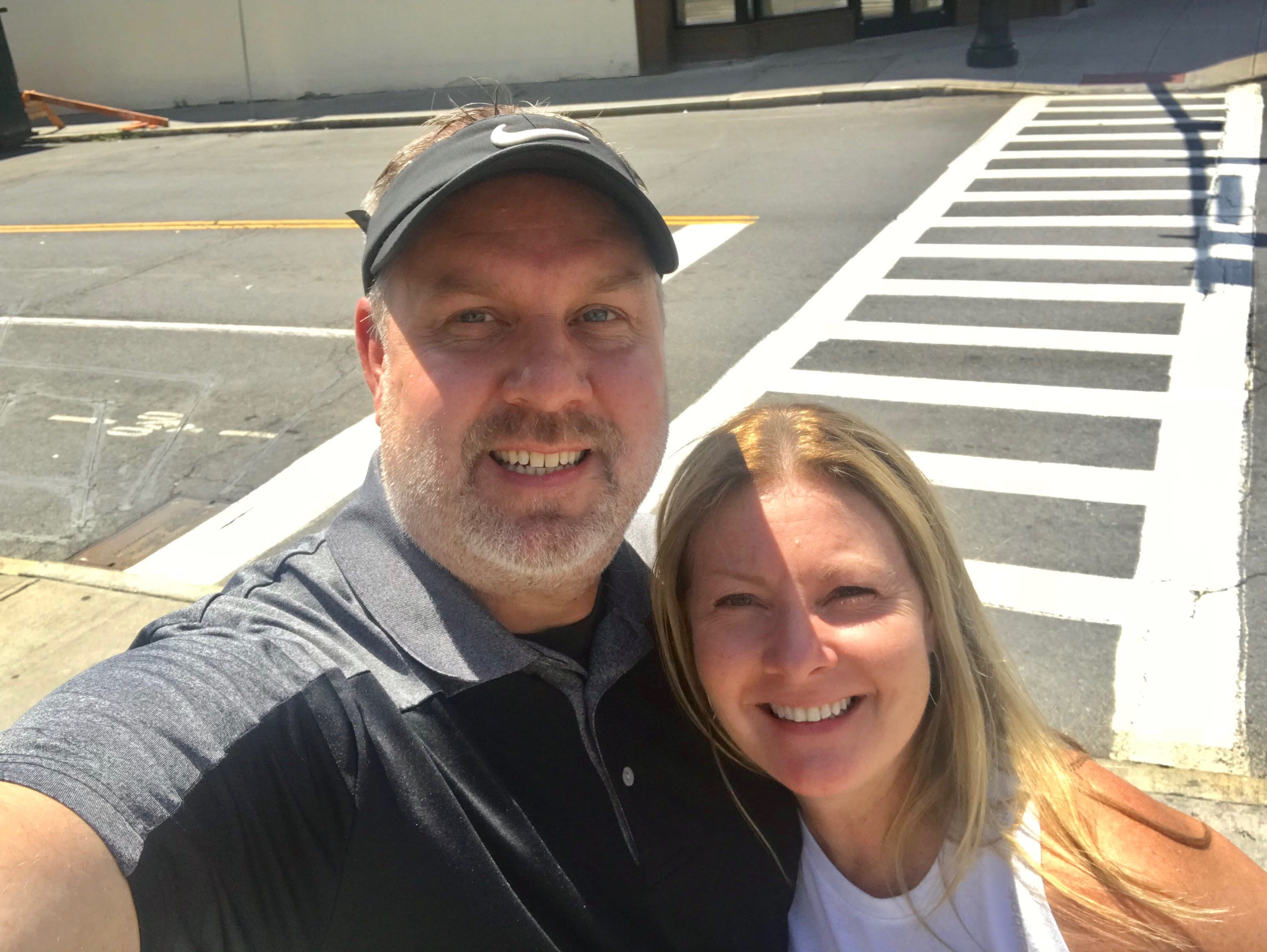 Scott Jackowski with his sister, Lori Hoban.