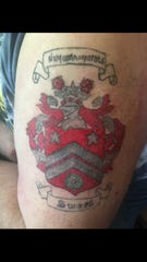 Les Arsenault never wanted a tattoo until he met his family. He had the Sweet family coat of arms tattooed on his skin.