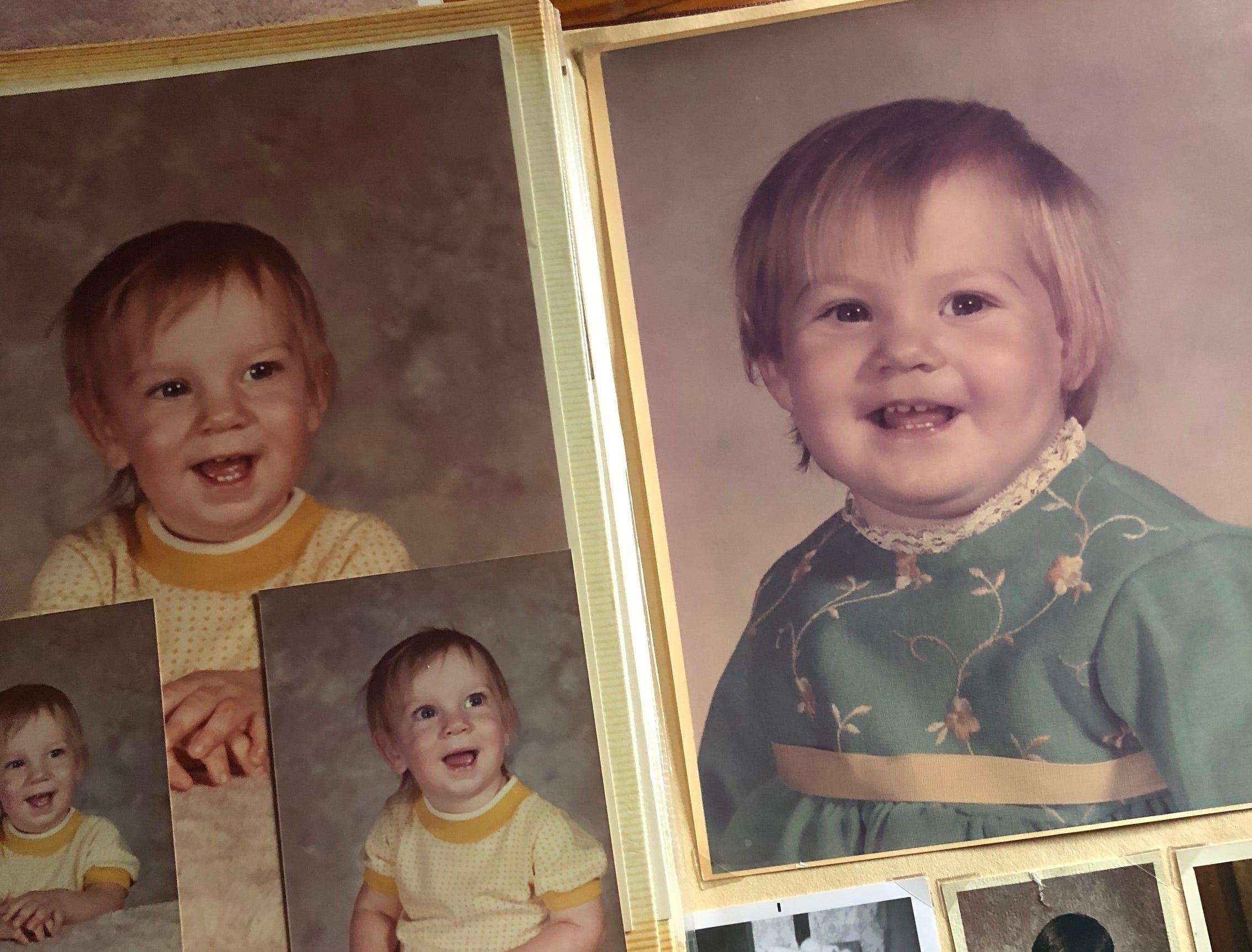 Scott Jackowski, left, and his sister, Lori Hoban, as babies.