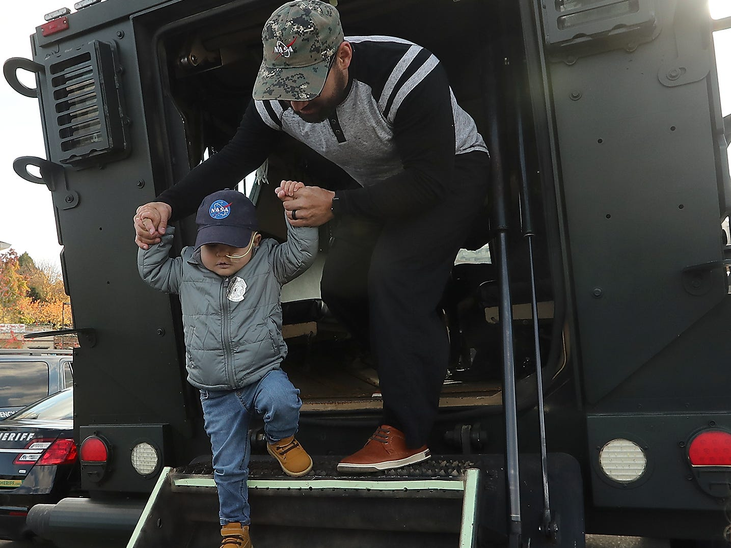City of Port Orchard hosts Jedi's Special Day in honor of 3-year-old Jedi Minters at the Port of Bremerton boat launch across from City Hall on Wednesday, November 7, 2018.