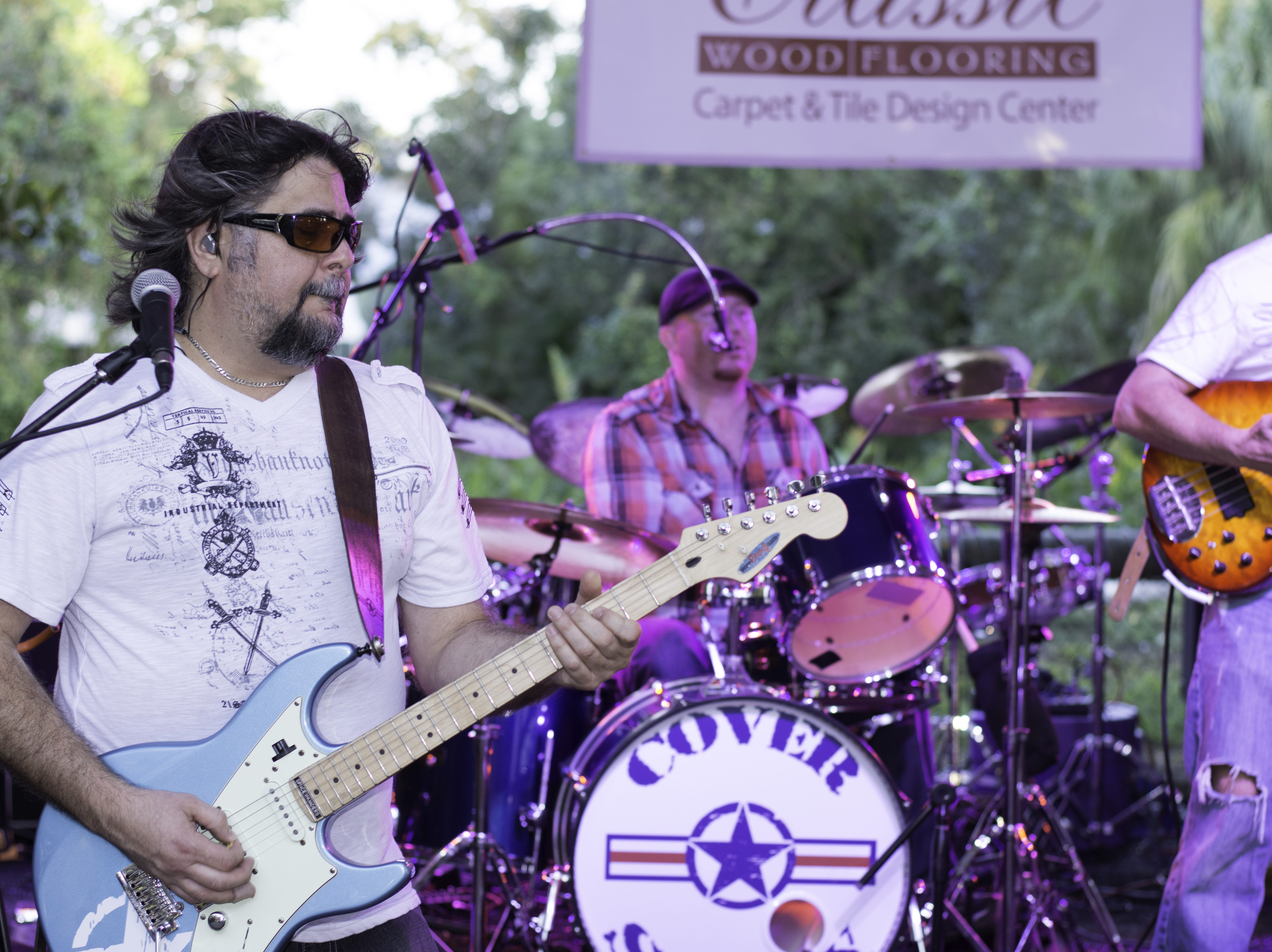 Cover Story - a local band from Cocoa Beach- performs at Jazzoo.