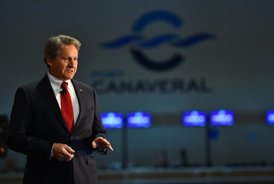 Port Canaveral Chief Executive Officer John Murray delivers the annual State of the Port Address at Cruise Terminal 1.