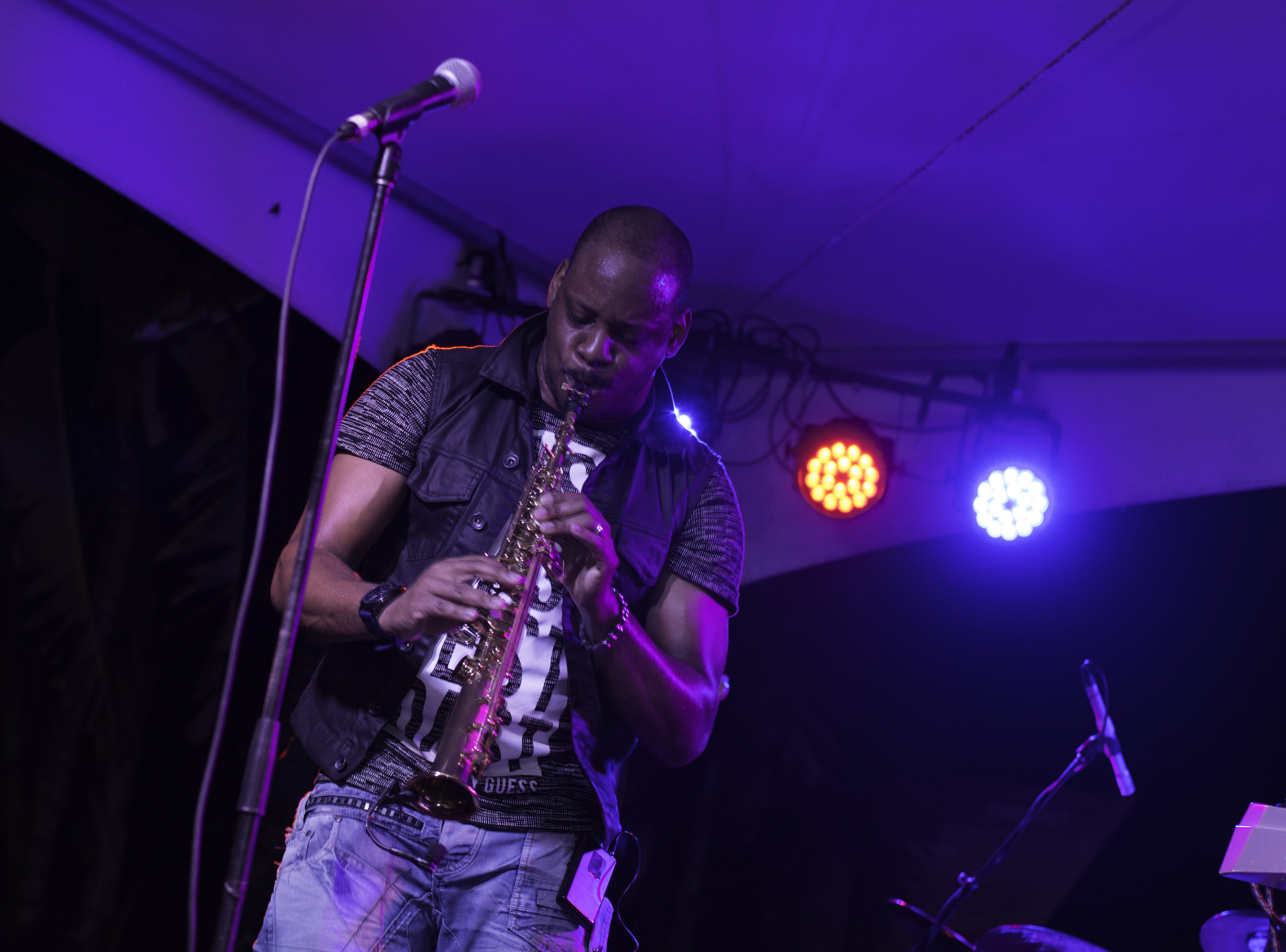 Jackiem Joyner and his band perform together at the Jazz Music Venue. His band were the highlight of the night for many who attended Jazzoo.