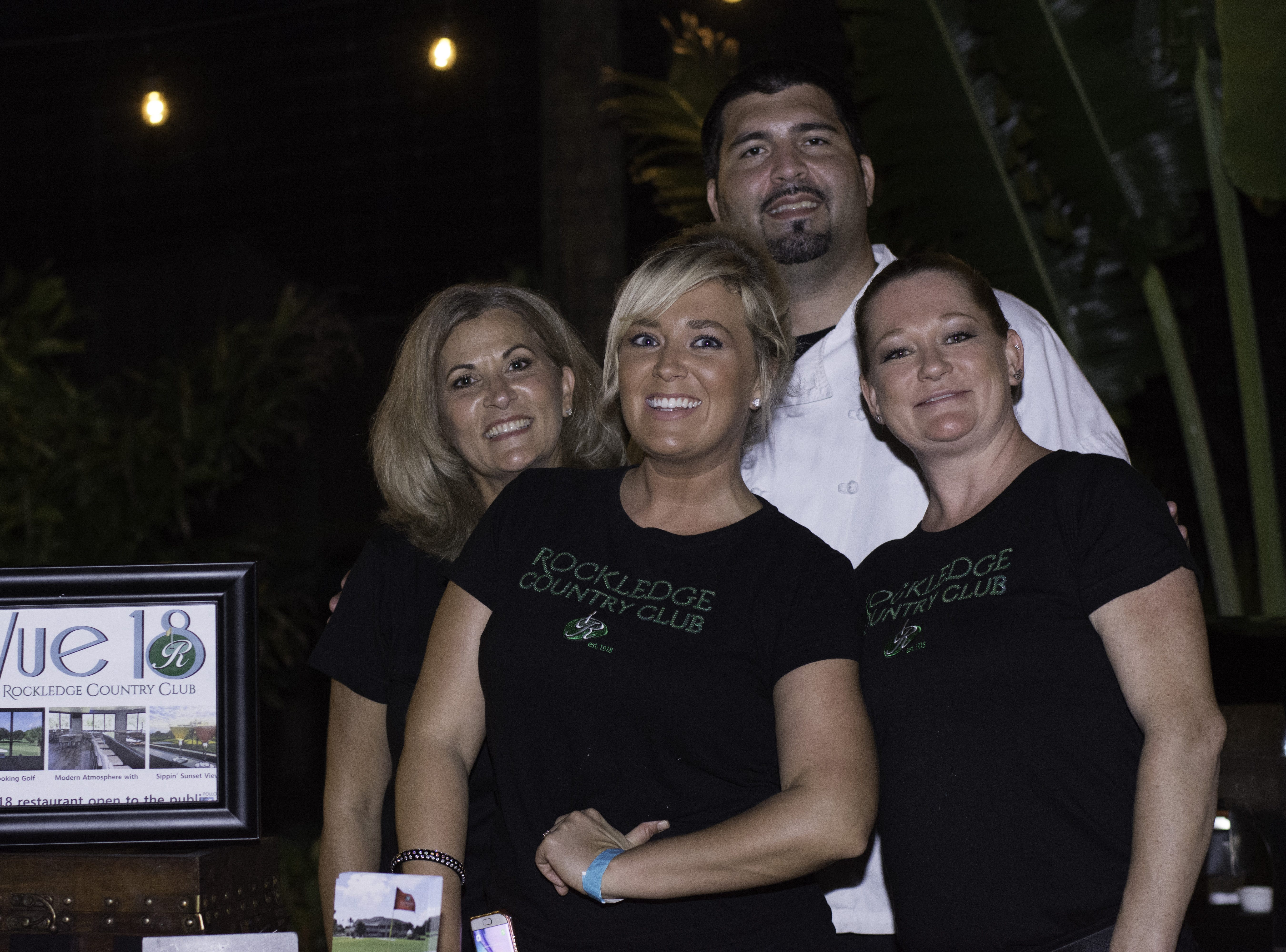 Employees from the Rockledge Country Club pose together at Jazzoo.