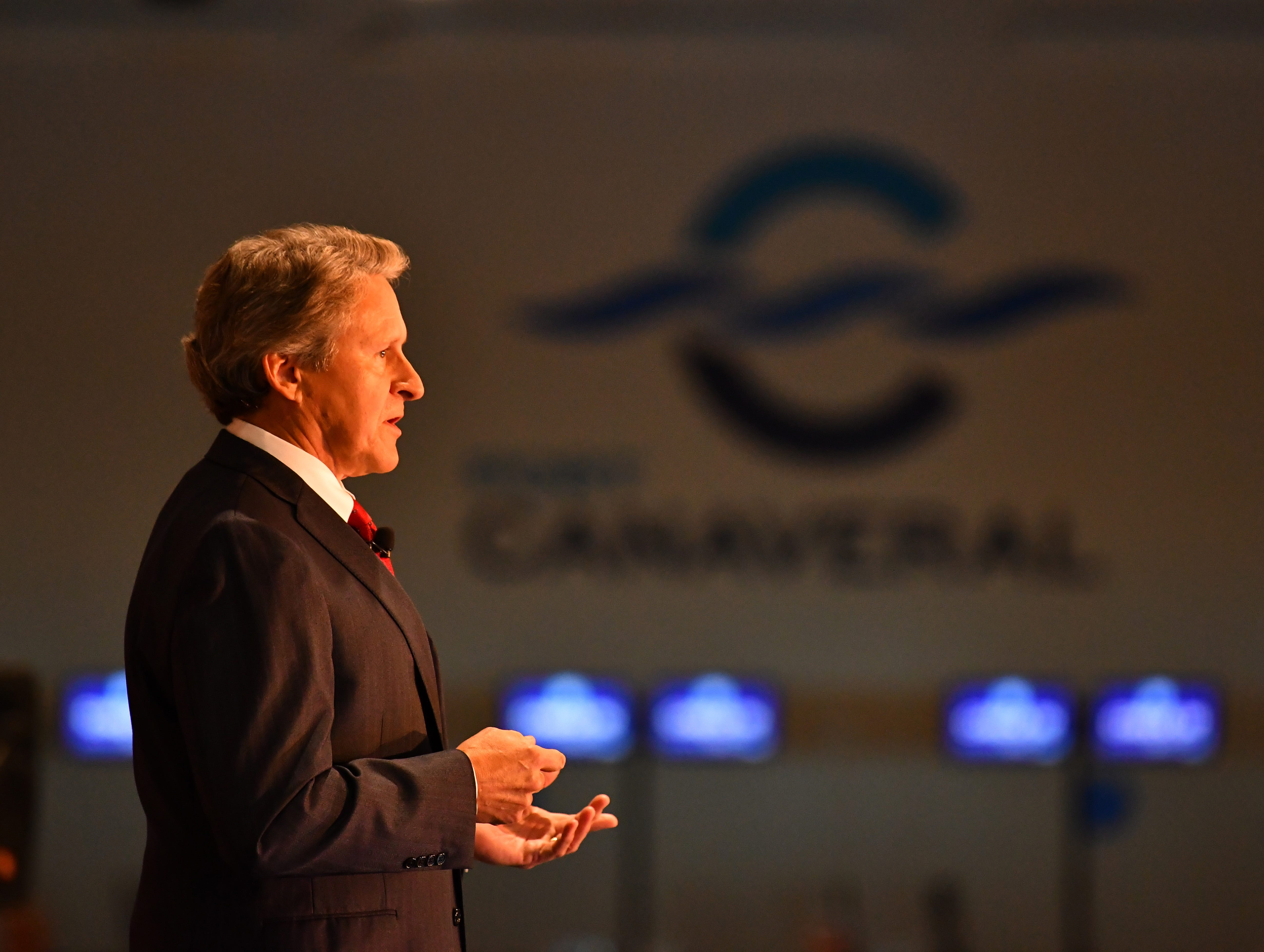 John Murray, CEO of Port Canaveral, gave a very positive State of the Port Wednesday afternoon in Cruise Terminal 1, celebrating the 65th anniversary of the port and looking to the future.