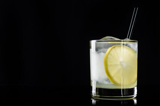 Cocktail With Lemon And Ice