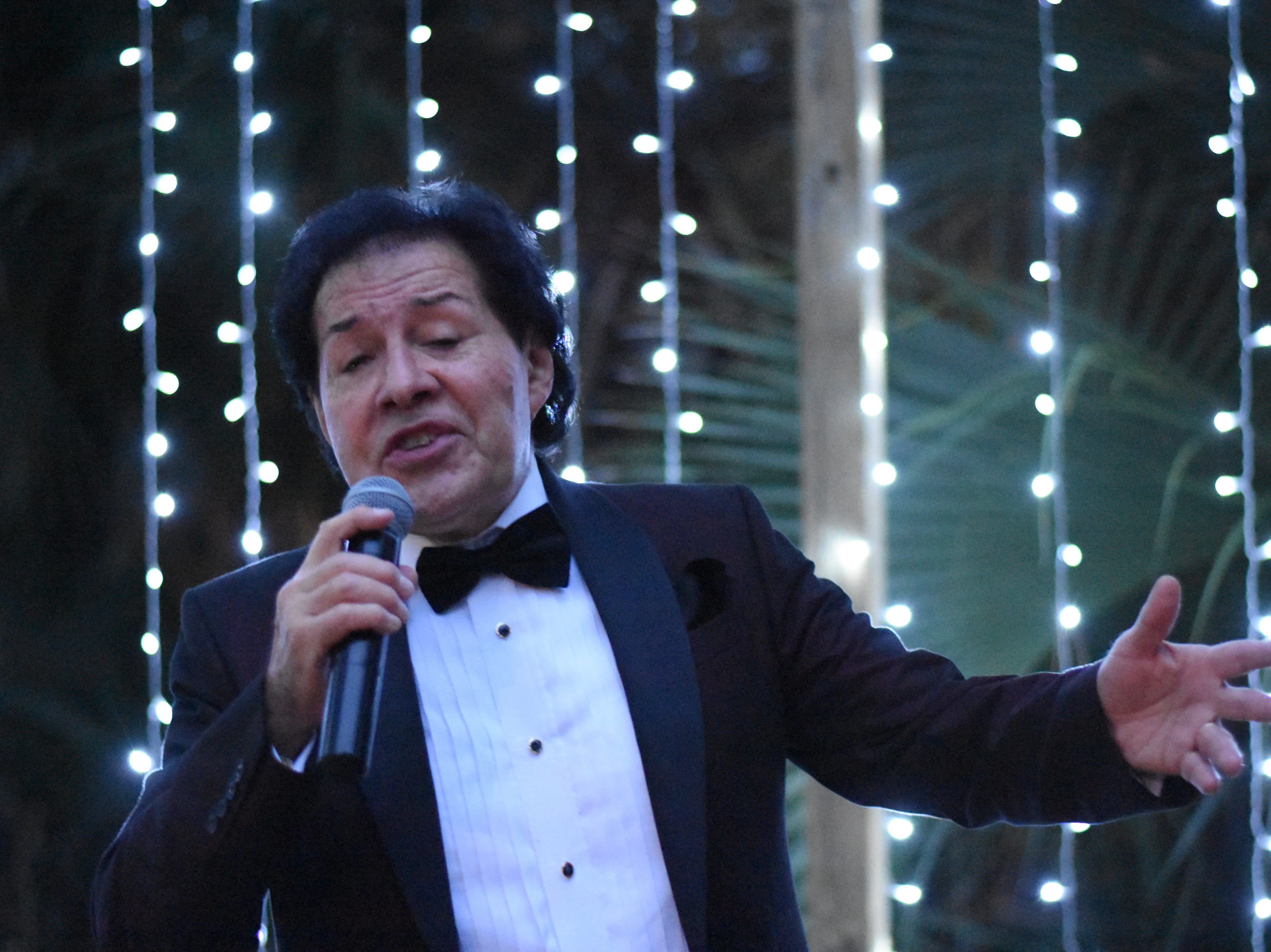 Carlos Carr performs his Frank Sinatra Tribute Act in the Premium Club at Jazzoo.