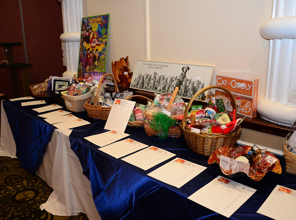 Some of the wonderful items up for silent auction last Saturday evening at the Space Coast Feline Network Autumn Gala held at the Space Coast Convention Center.