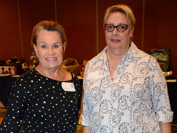 Barbara Bagshaw and Cori Summersett enjoying the Space Coast Feline Network Autumn Gala Saturday evening.