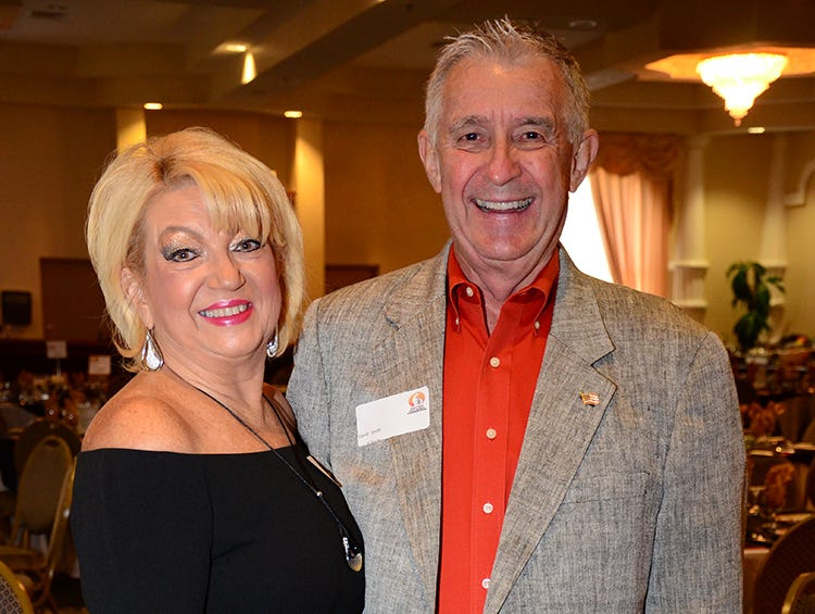 There to show their support for the Space Coast Feline Network were Lisa Mullooly and David Smith.