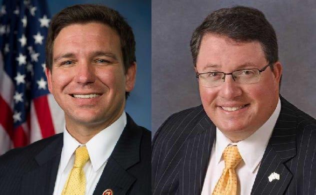 Gov.-elect Ron DeSantis and Rep. Randy Fine, R-Palm Bay.