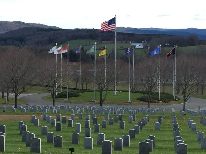 The Vermont Veterans Memorial Cemetery in Randolph Center.